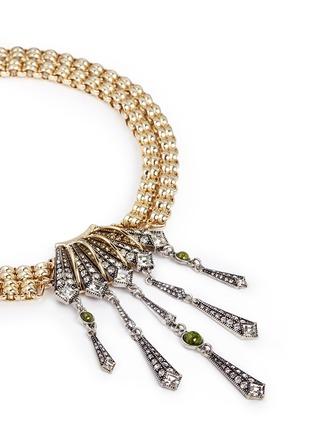 Detail View - Click To Enlarge - Lulu Frost - 'Brigitte' Art Deco pendant glass stone necklace