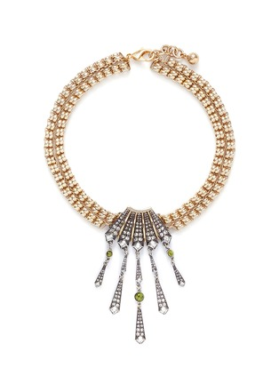 Main View - Click To Enlarge - Lulu Frost - 'Brigitte' Art Deco pendant glass stone necklace