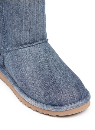 Detail View - Click To Enlarge - UGG - 'Classic Short' washed denim boots