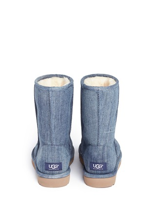 Back View - Click To Enlarge - UGG - 'Classic Short' washed denim boots