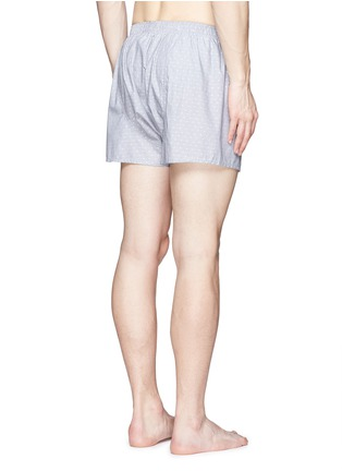 Back View - Click To Enlarge - Sunspel - Dot weave cotton boxer shorts