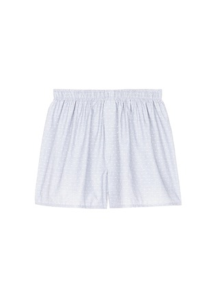 Main View - Click To Enlarge - Sunspel - Dot weave cotton boxer shorts