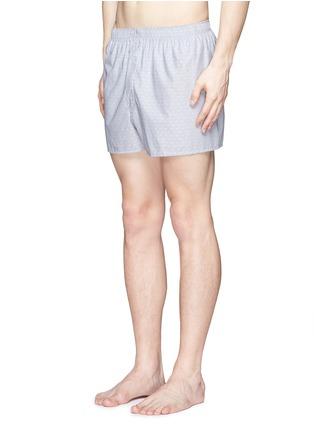 Figure View - Click To Enlarge - Sunspel - Dot weave cotton boxer shorts