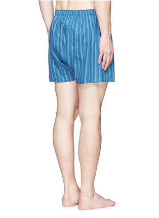 Back View - Click To Enlarge - Sunspel - Stripe print cotton boxer shorts