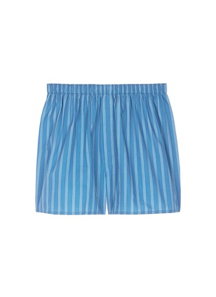 Main View - Click To Enlarge - Sunspel - Stripe print cotton boxer shorts