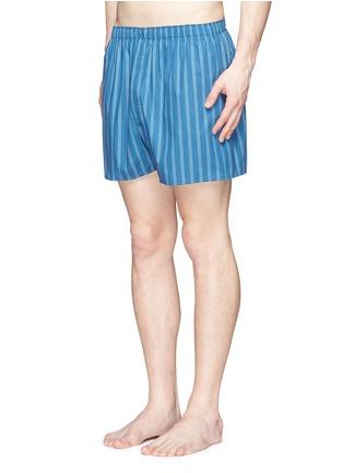 Figure View - Click To Enlarge - Sunspel - Stripe print cotton boxer shorts