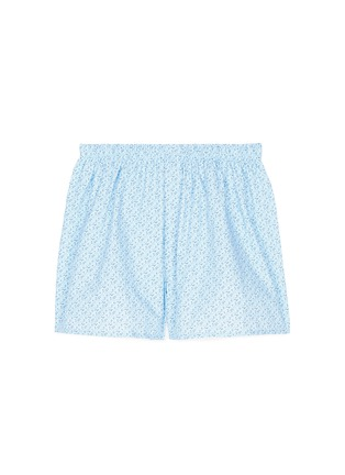 Main View - Click To Enlarge - Sunspel - 'Linear Floral' print cotton boxer shorts