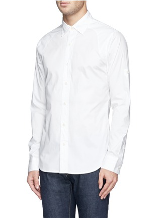 Front View - Click To Enlarge - DENHAM - 'Pin' raglan sleeve poplin shirt