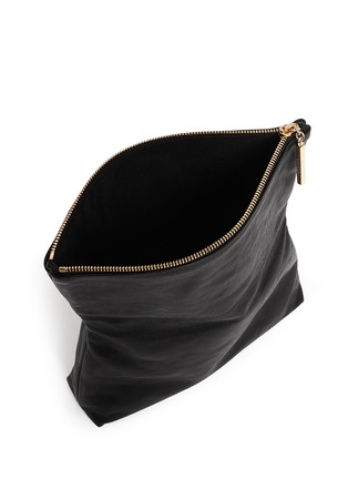 Detail View - Click To Enlarge - JIMMY CHOO - 'Nyla' foldover leather clutch