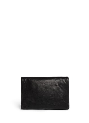 Back View - Click To Enlarge - JIMMY CHOO - 'Nyla' foldover leather clutch