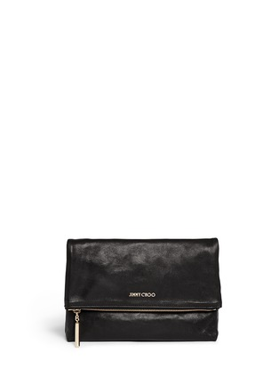 Main View - Click To Enlarge - JIMMY CHOO - 'Nyla' foldover leather clutch