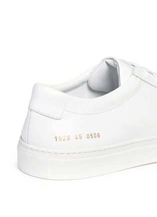 Detail View - Click To Enlarge - Common Projects - 'Original Achilles' nappa leather sneakers