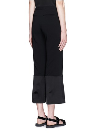 Back View - Click To Enlarge - Theory - 'Laleenka C' satin cuff cropped pants