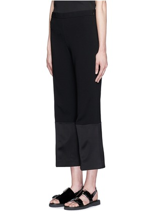 Front View - Click To Enlarge - Theory - 'Laleenka C' satin cuff cropped pants