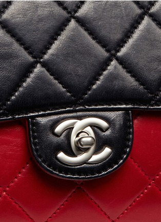 Detail View - Click To Enlarge - Vintage Chanel - Colourblock quilted lambskin leather flap bag