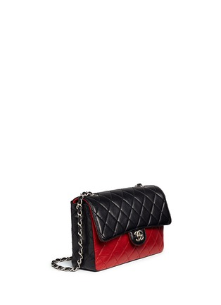 Figure View - Click To Enlarge - Vintage Chanel - Colourblock quilted lambskin leather flap bag