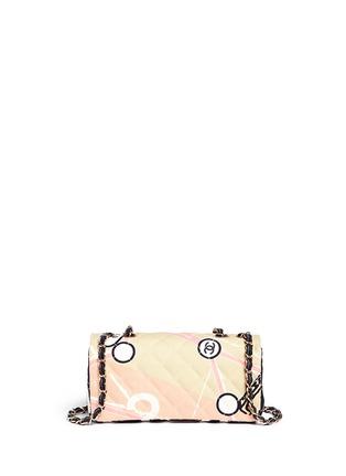 Back View - Click To Enlarge - VINTAGE CHANEL - Embellished quilted canvas flap bag