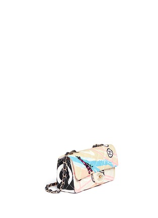 Figure View - Click To Enlarge - VINTAGE CHANEL - Embellished quilted canvas flap bag