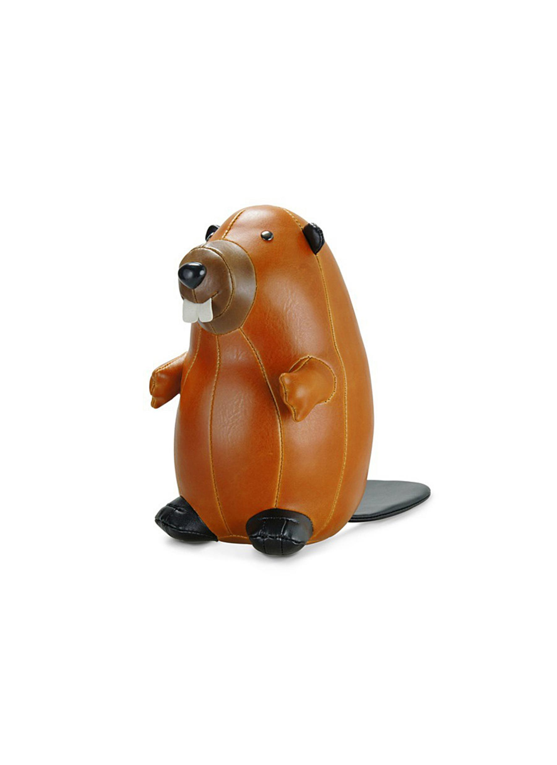 Classic beaver bookend