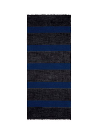 Main View - Click To Enlarge - Lanvin - Stripe cotton-wool-silk scarf