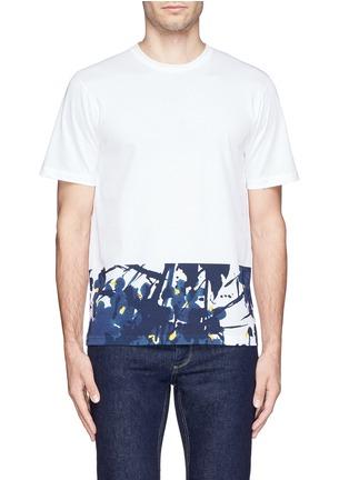 Main View - Click To Enlarge - Marni - Inksplash floral print T-shirt