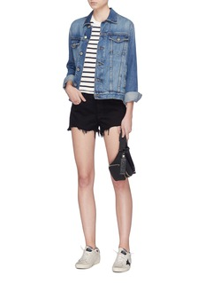 rag & bone/JEAN Distressed cuff denim shorts