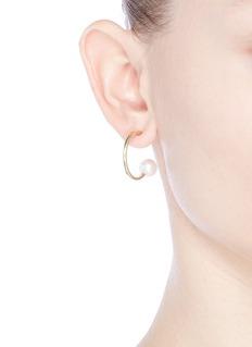 Sophie Bille Brahe 'Petite Boucle de Walter' pearl 14k gold earrings