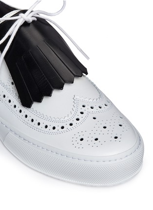 Detail View - Click To Enlarge - Clergerie - 'Tolk' detachable kiltie leather brogue sneakers