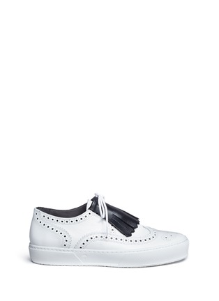 Main View - Click To Enlarge - Clergerie - 'Tolk' detachable kiltie leather brogue sneakers