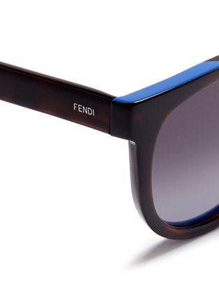 Detail View - Click To Enlarge - Fendi - Colourblock acetate round cat eye sunglasses
