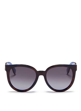 Main View - Click To Enlarge - Fendi - Colourblock acetate round cat eye sunglasses