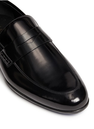 Detail View - Click To Enlarge - Harrys Of London - 'Downing' patent leather penny loafers