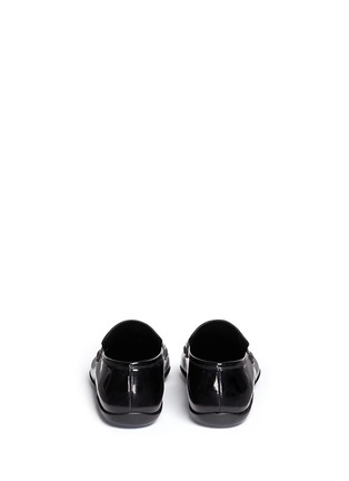 Back View - Click To Enlarge - Harrys Of London - 'Downing' patent leather penny loafers