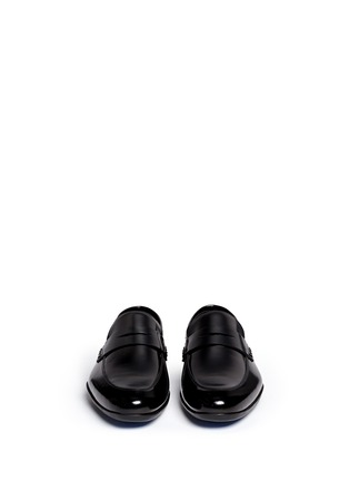 Front View - Click To Enlarge - Harrys Of London - 'Downing' patent leather penny loafers