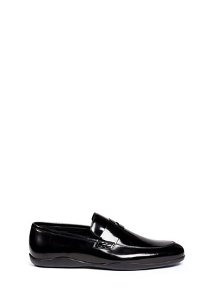 Main View - Click To Enlarge - Harrys Of London - 'Downing' patent leather penny loafers
