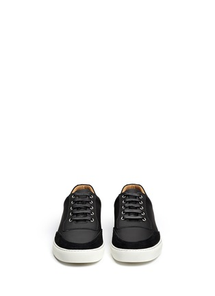 Front View - Click To Enlarge - Harrys Of London - 'Mr Jones 2' suede trim tech leather sneakers