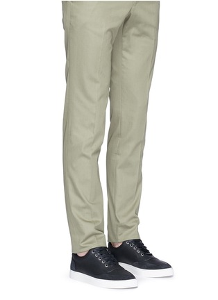 Figure View - Click To Enlarge - Harrys Of London - 'Mr Jones 2' suede trim tech leather sneakers