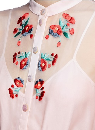 Detail View - Click To Enlarge - Temperley London - 'Elette' floral embroidery silk organza dress