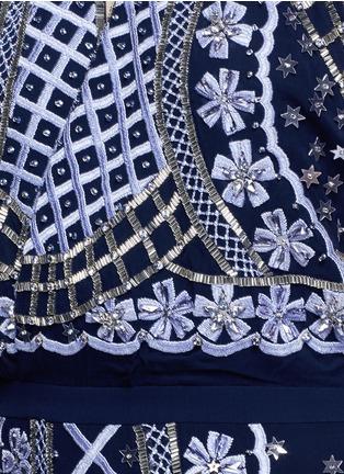 Detail View - Click To Enlarge - Temperley London - 'Kekipi' star embellished silk halter dress
