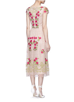 Back View - Click To Enlarge - Temperley London - 'Antila' floral embroidery French lace dress