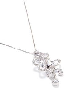 Lazare Kaplan Diamond 18k white gold heart pendant necklace