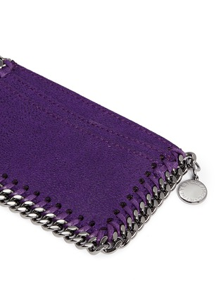 Detail View - Click To Enlarge - Stella McCartney - 'Falabella' chain border card holder