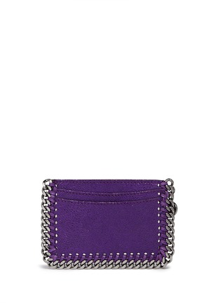 Figure View - Click To Enlarge - Stella McCartney - 'Falabella' chain border card holder