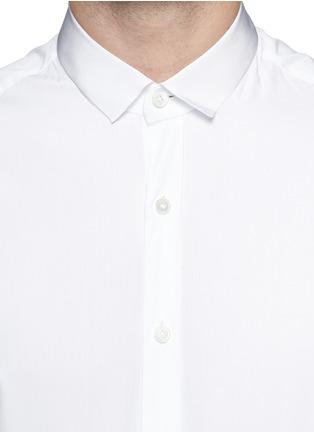 Detail View - Click To Enlarge - Lanvin - Grosgrain collar cotton poplin shirt