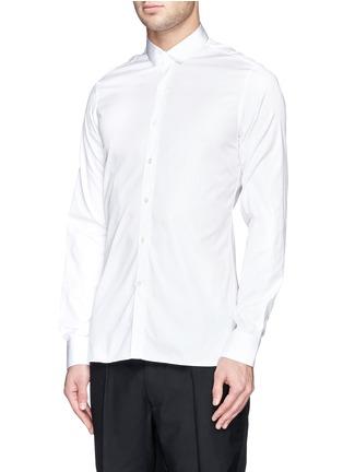 Front View - Click To Enlarge - Lanvin - Grosgrain collar cotton poplin shirt