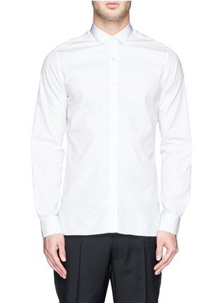 Main View - Click To Enlarge - Lanvin - Grosgrain collar cotton poplin shirt