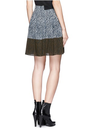 Back View - Click To Enlarge - WHISTLES - Maria printed pleated skirt