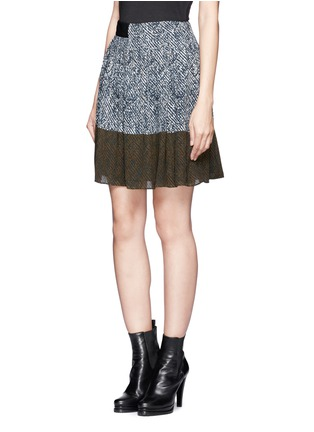 Front View - Click To Enlarge - WHISTLES - Maria printed pleated skirt