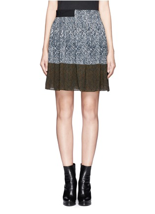 Main View - Click To Enlarge - WHISTLES - Maria printed pleated skirt