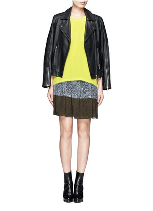 Figure View - Click To Enlarge - WHISTLES - Maria printed pleated skirt